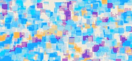 blue purple and orange square pattern painting abstract background