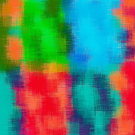 red' green: red green blue and orange painting abstract background Stock Photo