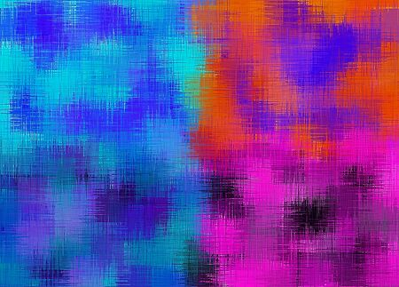 orange blue pink and purple painting abstract background