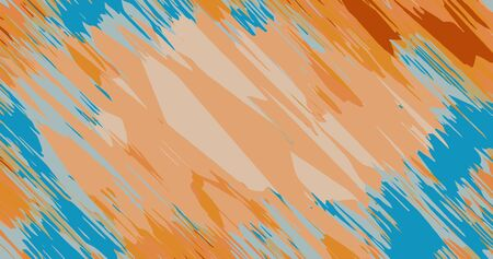 orange brown and blue painting abstract background