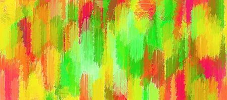 fine detail: yellow red and green painting texture abstract background Stock Photo