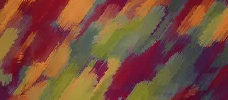 creative arts: red orange brown and green painting texture abstract background Stock Photo