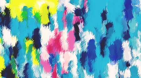 blue pink yellow and black painting texture abstract background Stock Photo