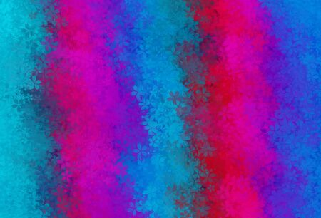 blue red pink and purple flowers abstract background Stock Photo