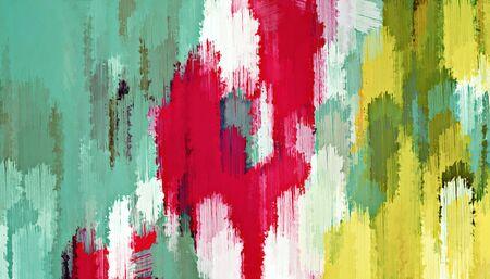 赤、緑、黄色の抽象的な背景のテクスチャをペイント 写真素材