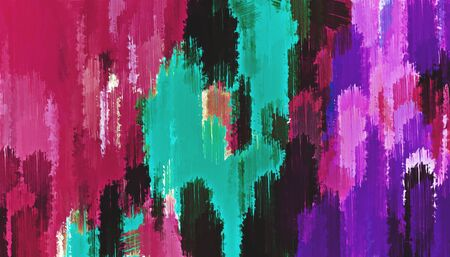red pink purple green and black painting abstract background