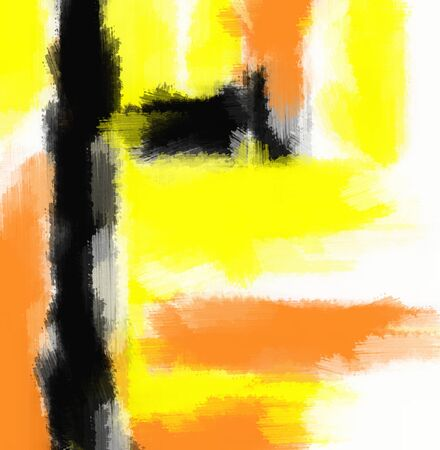 black yellow: orange yellow and black painting abstract with white background