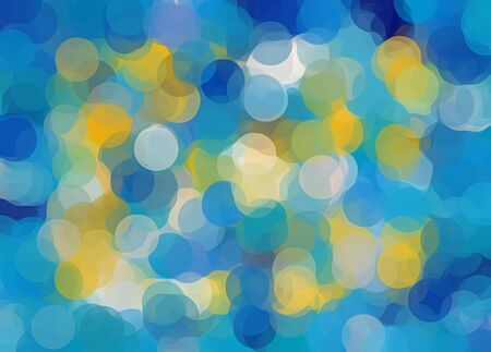 blue and yellow circle pattern abstract background Stock Photo