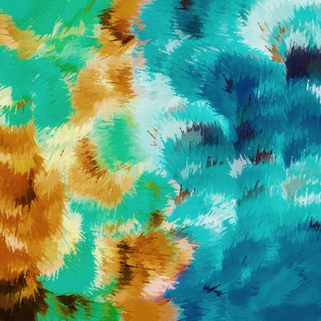 blue green background: green blue and brown painting abstract background