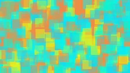 green blue yellow and orange square pattern abstract background