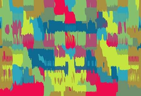 red blue green yellow pink painting abstract background Stock Photo