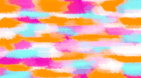 pink orange and blue painting abstract with white background