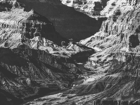 texture of the desert at Grand Canyon national park, USA in black and white