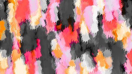 ピンク オレンジと黒のテクスチャの抽象的な背景を塗る