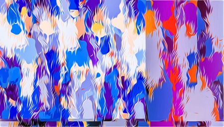 blue purple pink orange and red painting abstract background