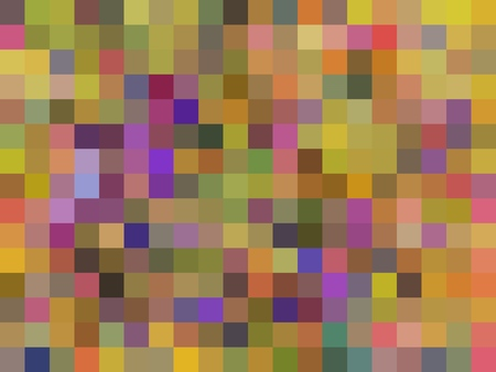 geometric square pixel pattern abstract in yellow green purple