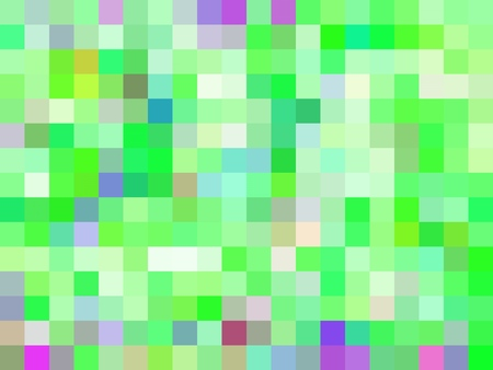 geometric square pixel pattern abstract background in green pink purple