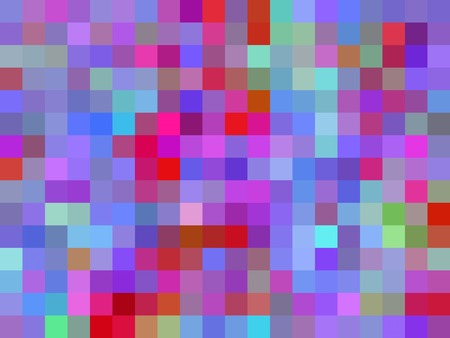 geometric square pixel pattern abstract background in blue purple pink red Stockfoto