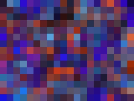 geometric square pixel pattern abstract background in blue purple orange