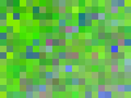 geometric square pixel pattern abstract background in green blue pink