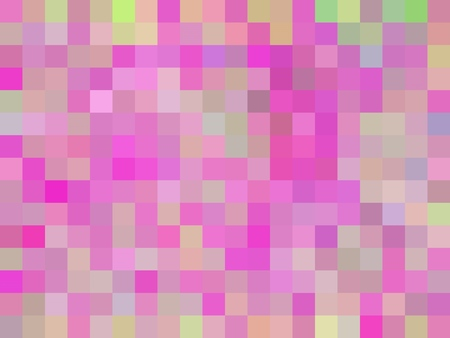 geometric square pixel pattern abstract background in pink blue green Stockfoto