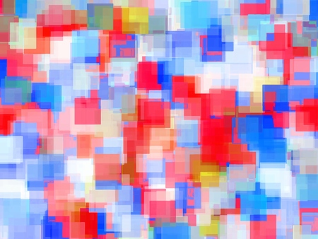 geometric square pattern abstract background in red and blue Stockfoto