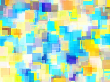 geometric square pattern abstract background in yellow and blue