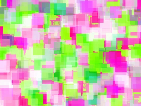 geometric square pattern abstract background in pink and green