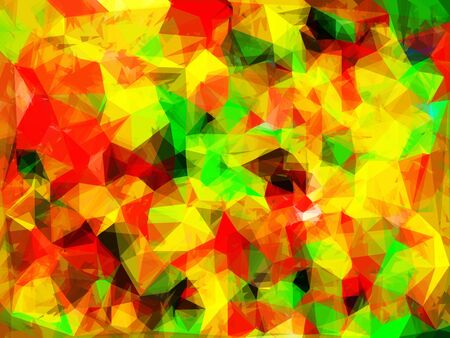 geometric triangle pattern abstract background in yellow green red