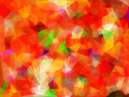 geometric triangle pattern abstract background in red orange green