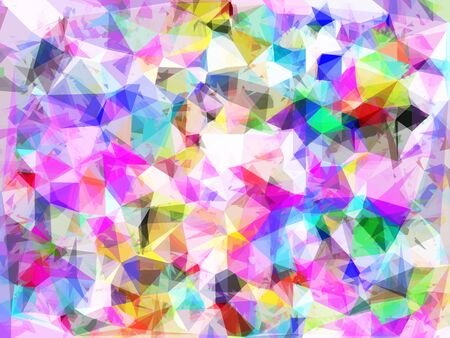 geometric triangle pattern abstract background in pink blue yellow