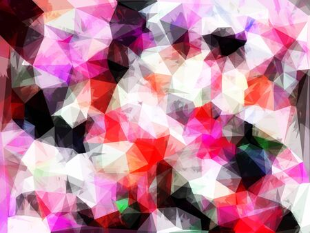 geometric triangle pattern abstract background in pink purple