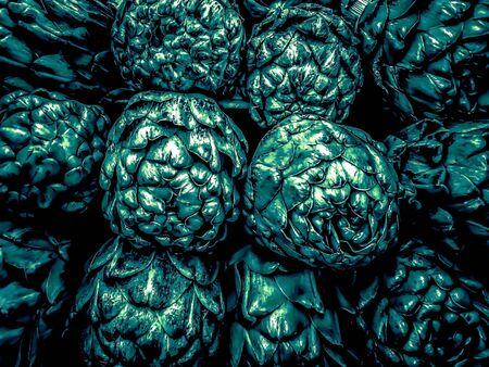 closeup green artichoke texture background Zdjęcie Seryjne