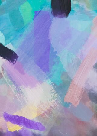 brush painting texture abstract background in blue pink purple
