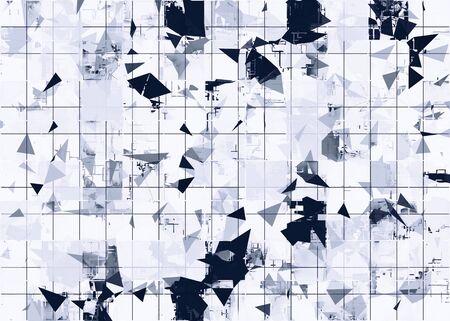 geometric square pattern in black and white Zdjęcie Seryjne