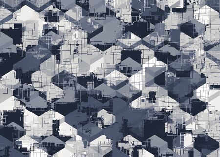 geometric square pattern abstract in black and white Zdjęcie Seryjne