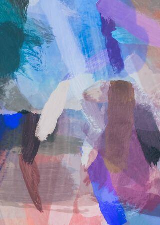 brush painting texture abstract background in blue purple brown Zdjęcie Seryjne