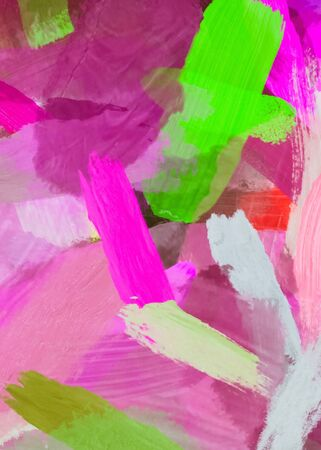 brush painting texture abstract background in pink green
