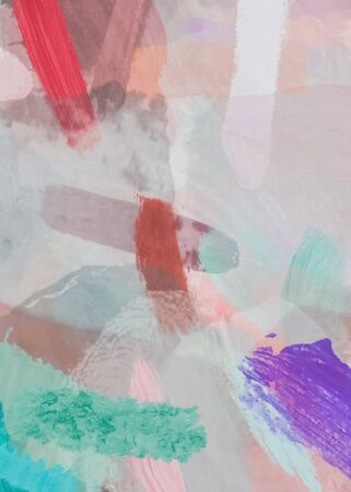 brush painting texture abstract background in red pink purple green Zdjęcie Seryjne