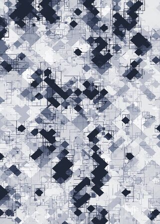 geometric pixel pattern abstract in black and white