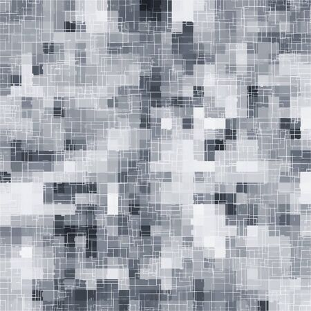 geometric square pixel pattern abstract in black and white
