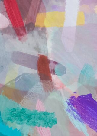 brush painting texture abstract background in pink purple green red
