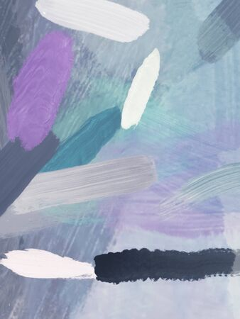 brush painting texture abstract background in purple green black