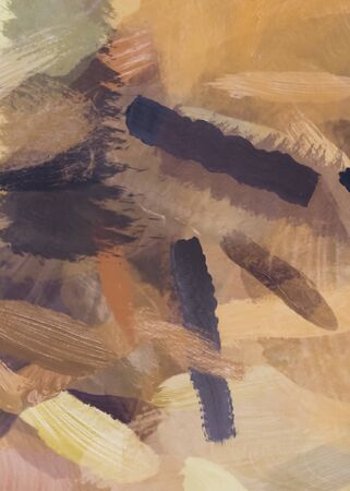 brush painting texture abstract background in black and brown