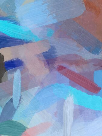 brush painting texture abstract background in blue brown
