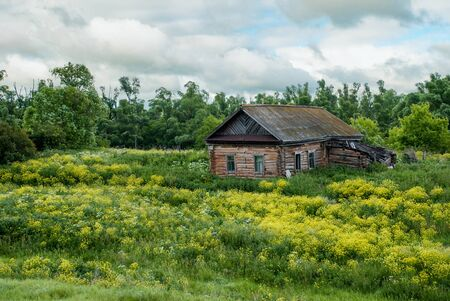 Abandoned old house on the outskirts of the village