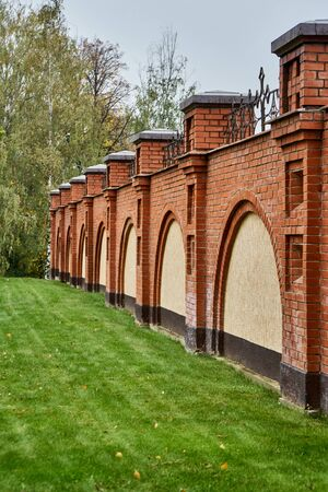 Fence made of red brick