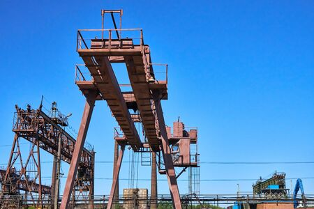 Rail crane at the metallurgical plant