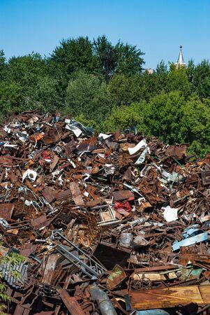 Dump of a metallurgical plant in Izhevsk