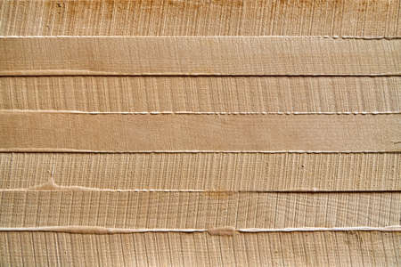 Wood texture. Gluing and clamping wooden panels. Wooden furniture manufacturing process. Furniture manufacture. Close-up Banco de Imagens - 154002710